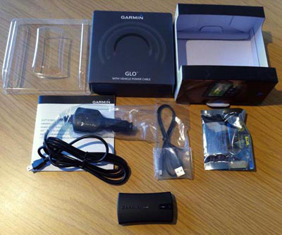 Garmin GLO box contents