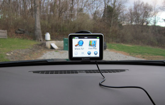 nuvi 2200, Mounted in the Car